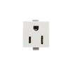 Cooper Wiring Devices 125-Volt 15-Amp White Single Electrical Outlet
