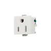 Cooper Wiring Devices 15-Amp White Single Electrical Outlet