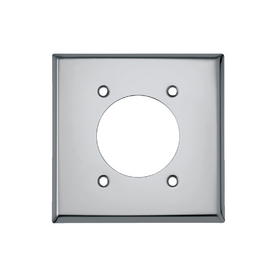Cooper Wiring Devices 2-Gang Chrome Standard Single Receptacle Metal Wall Plate