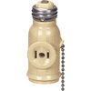 Cooper Wiring Devices 660-Watt Ivory Medium Light Socket Adapter with Pull Chain