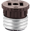 Cooper Wiring Devices 660-Watt Brown Medium Light Socket Adapter