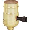 Cooper Wiring Devices 3-Way 250-Watt Brass Hard-Wired Light Socket