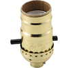 Cooper Wiring Devices 660-Watt Brass Hard-Wired Lamp Socket