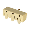 Cooper Wiring Devices Single-to-Triple Ivory 3-Wire Grounding Adapter