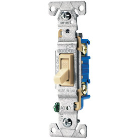 Eaton 15-Amp Ivory Light Switch