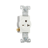 Eaton 250-Volt 20-Amp White Single Electrical Outlet