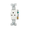 Cooper Wiring Devices 20-Amp White Single Electrical Outlet