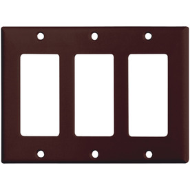 Shop Cooper Wiring Devices 3-Gang Brown Decorator Plastic Wall Plate at Lowes.com