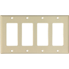Cooper Wiring Devices 4-Gang Ivory Gfci Plastic Wall Plate