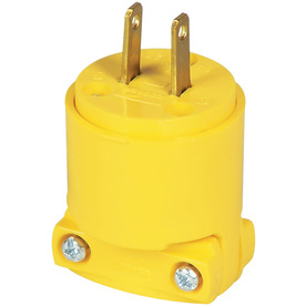 Cooper Wiring Devices 15-Amp 125-Volt Yellow 2-Wire Plug