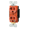 Cooper Wiring Devices 20-Amp Orange Power Electrical Outlet