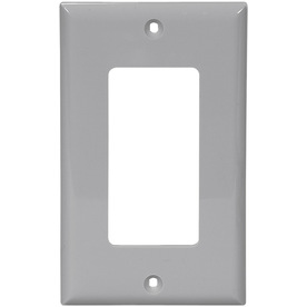 Cooper Wiring Devices 1-Gang Gray Decorator Nylon Wall Plate
