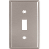 Cooper Wiring Devices 1-Gang Stainless Standard Toggle Stainless Steel Wall Plate