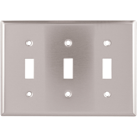 Eaton 3-Gang Stainless Steel Triple Toggle Wall Plate
