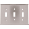 Cooper Wiring Devices 3-Gang Stainless Standard Toggle Stainless Steel Wall Plate