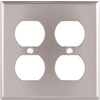 Cooper Wiring Devices 2-Gang Stainless Round Wall Plate