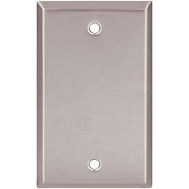 Cooper Wiring Devices 1-Gang Stainless Steel Blank Stainless Steel Wall Plate