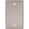 Cooper Wiring Devices 1-Gang Stainless Blank Stainless Steel Wall Plate