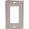 Cooper Wiring Devices 1-Gang Stainless Standard Duplex Receptacle Stainless Steel Wall Plate