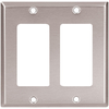 Cooper Wiring Devices 1-Gang Silver Decorator Rocker Nylon Wall Plate
