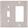Cooper Wiring Devices 2-Gang Stainless Combination Metal Wall Plate