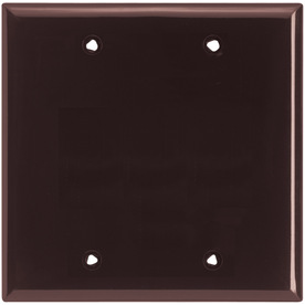 Cooper Wiring Devices 2-Gang Brown Blank Nylon Wall Plate