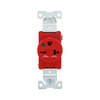 Cooper Wiring Devices 250-Volt 20-Amp Red Single Electrical Outlet