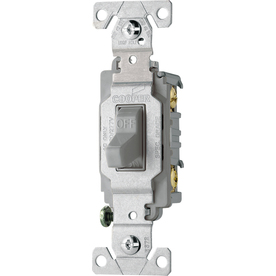 Cooper Wiring Devices 15-Amp Gray Light Switch