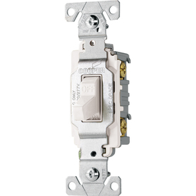 Cooper Wiring Devices 20-Amp White Light Switch
