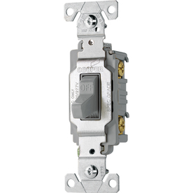 Cooper Wiring Devices 20-Amp Gray Light Switch
