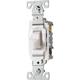 Cooper Wiring Devices 20-Amp White 3-Way Light Switch
