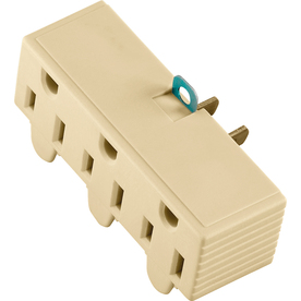Cooper Wiring Devices Single-to-Triple Ivory 2-Wire to 3-Wire Adapter