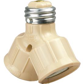 Cooper Wiring Devices 660-Watt Ivory Medium Light Socket Adapter