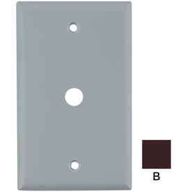 Cooper Wiring Devices 1-Gang Brown Coaxial Nylon Wall Plate