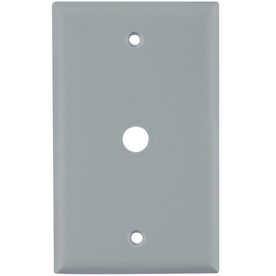 Cooper Wiring Devices 1-Gang Gray Coax Nylon Wall Plate