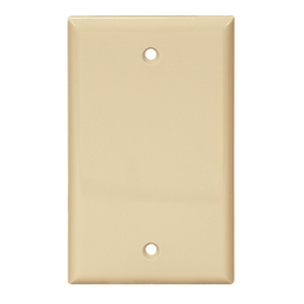 Cooper Wiring Devices 1-Gang Ivory Blank Nylon Wall Plate 5129V-SP-L
