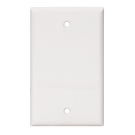 Cooper Wiring Devices 1-Gang White Blank Nylon Wall Plate 5129W-SP-L