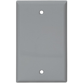Cooper Wiring Devices 1-Gang Gray Blank Nylon Wall Plate