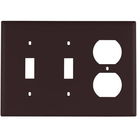 Cooper Wiring Devices 3-Gang Brown Combination Nylon Wall Plate
