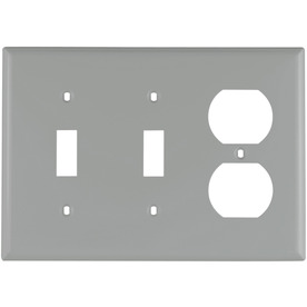 Cooper Wiring Devices 3-Gang Gray Wall Plate
