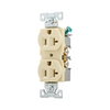 Cooper Wiring Devices 10-Pack 125-Volt 20-Amp Ivory Duplex Electrical Outlets
