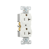 Eaton 10-Pack 20-Amp 125-Volt White Indoor Duplex Wall Outlets
