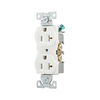 Cooper Wiring Devices 10-Pack 20-Amp White Duplex Electrical Outlet