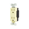 Cooper Wiring Devices 125-Volt 15-Amp Ivory Decorator Duplex Electrical Outlet