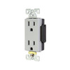 Cooper Wiring Devices 125-Volt 15-Amp Gray Decorator Duplex Electrical Outlet