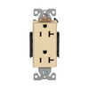 Cooper Wiring Devices 20-Amp Ivory Decorator Duplex Electrical Outlet