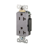Cooper Wiring Devices 125-Volt 20-Amp Gray Decorator Duplex Electrical Outlet