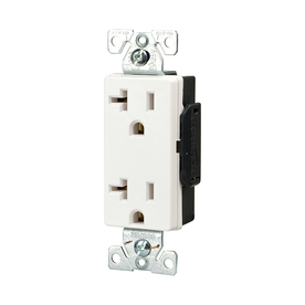 Cooper Wiring Devices 125-Volt 20-Amp White Decorator Duplex Electrical Outlet