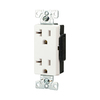 Cooper Wiring Devices 20-Amp White Decorator Duplex Electrical Outlet
