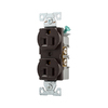 Eaton 15-Amp 125-Volt Brown Indoor Duplex Wall Outlet